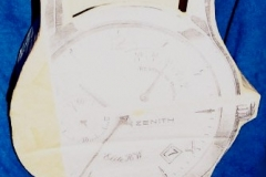 papier-mache zegar